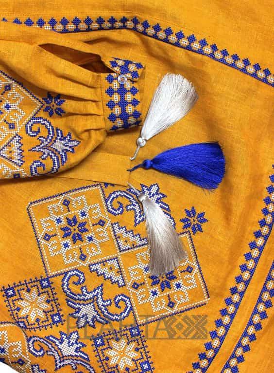 Довга сукня з клинами (жовта)