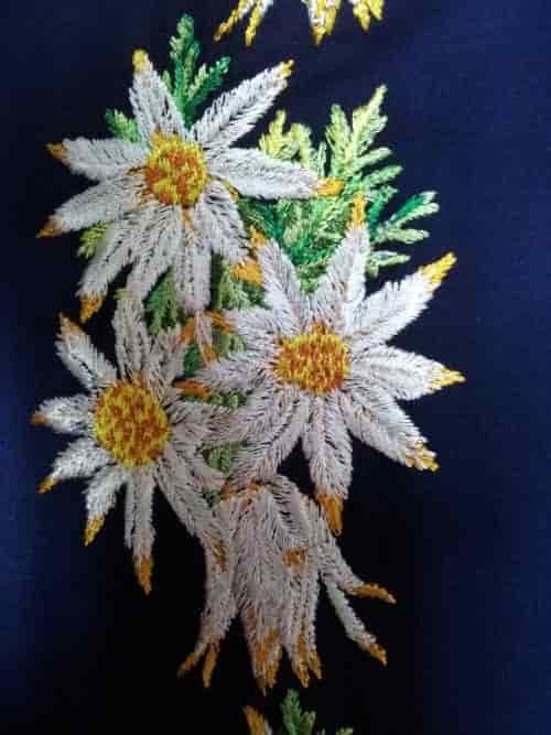 Орнамент вышивки на блузу рубашечного типа