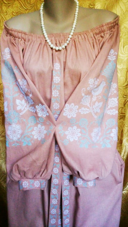 Платье ''Анастасия'' с орнаментом дерева рода