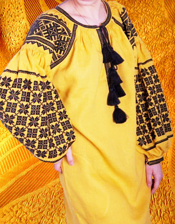 Платье ''Борщивские мотивы''