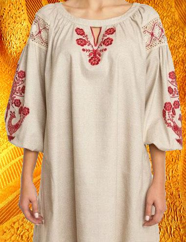 Платье ''Петухи''