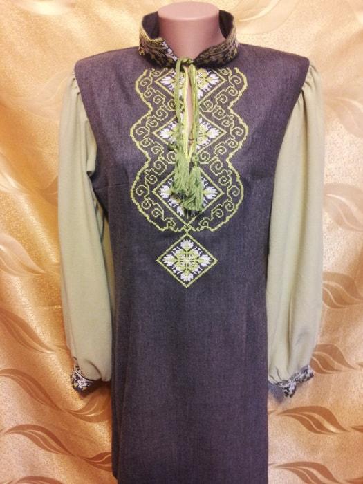 Платье ''Весна'' с комбинированным рукавом