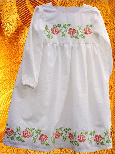Платье для девочки ''Мелкая роза''