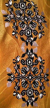 Платье коралловое (орнамент)