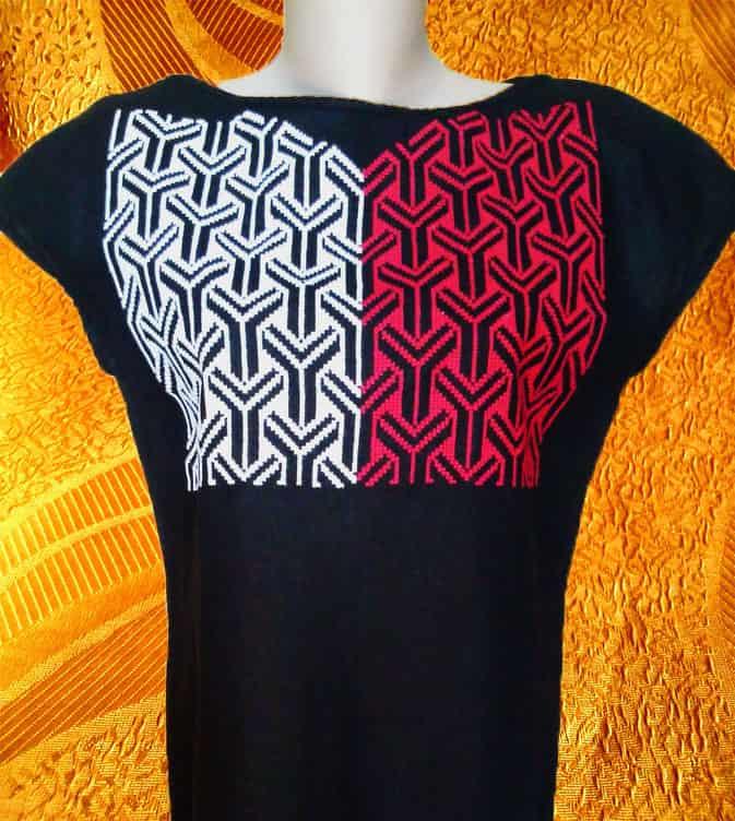 Платье льняное ''Контраст'' (грудь)