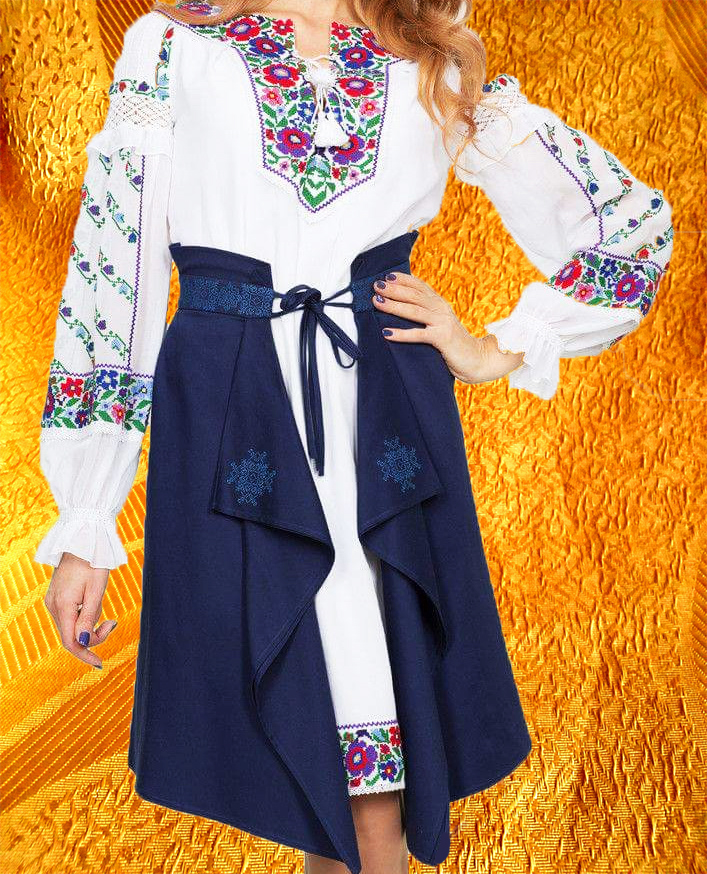 Платье с плахтой (сценичный костюм)