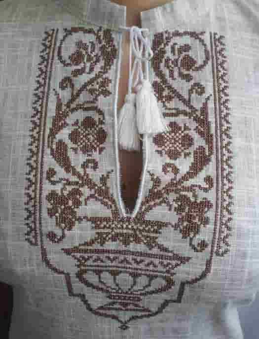 Платье с старославянским орнаментом (пазуха)