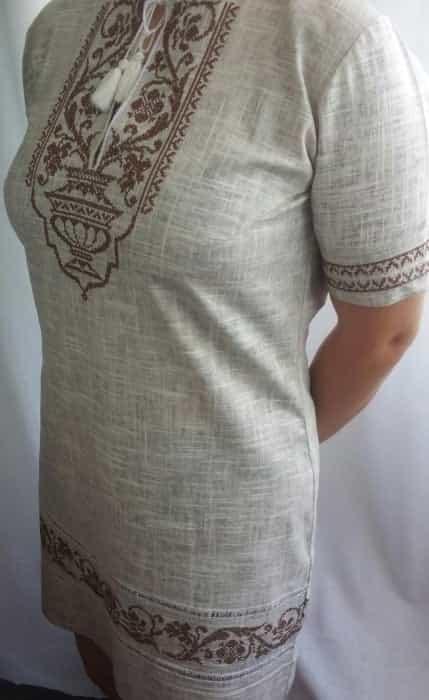 Платье с старославянским орнаментом
