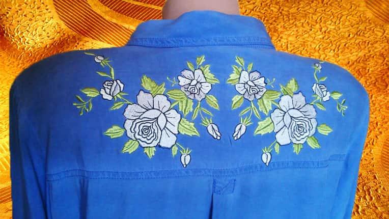 Рубашка джинсовая (спинка)