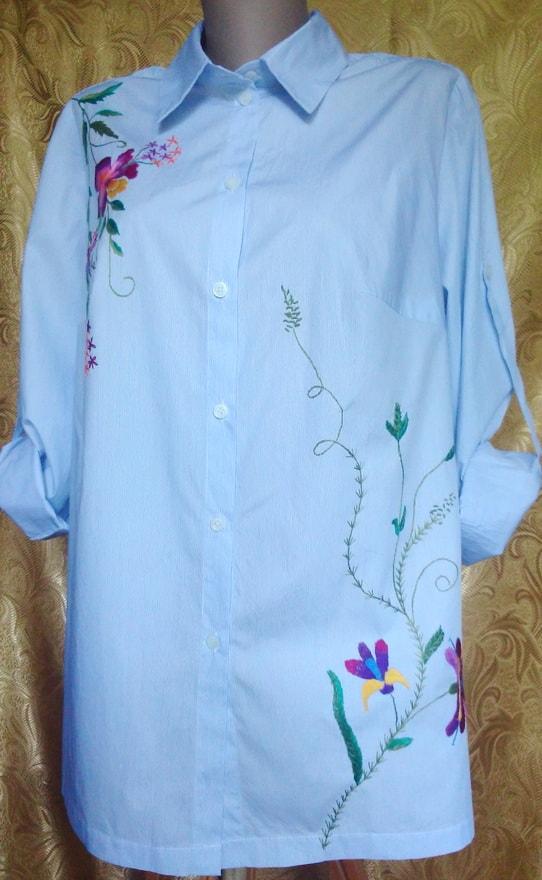 Рубашка с вышивкой ручной работы ''Ирина''