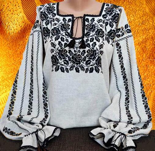 Сорочка ''Чёрные розы''