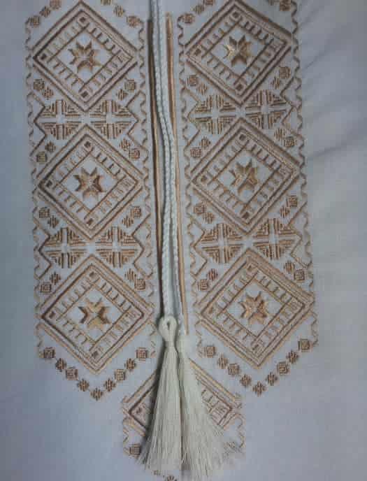 Сорочка Полтавская на белом (пазуха)