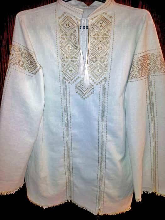 Сорочка Полтавская на белом