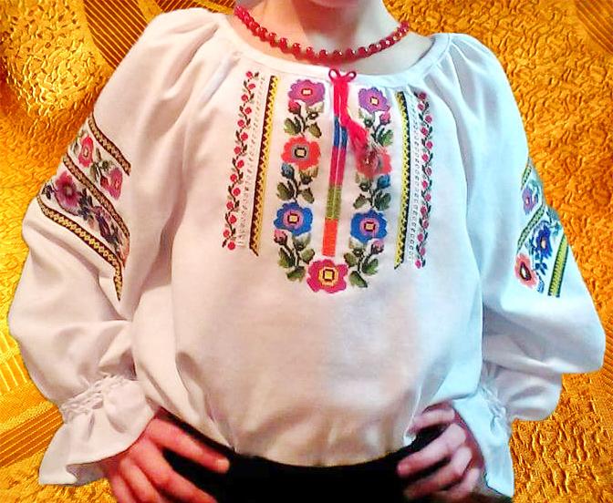 Сорочка для девочки ''Мальвы''