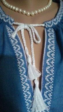 Сорочка джинсовая ''Марина'' (пазуха)