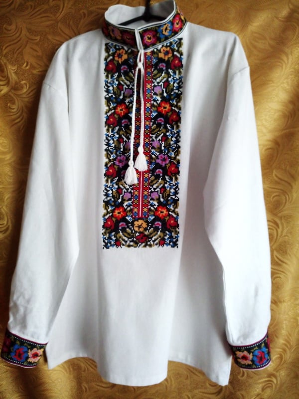 Сорочка мужская изысканная (Борщивська).
