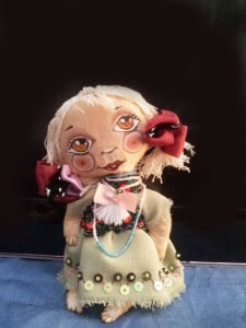 Сувенир авторский. Кукла Маковка нарядная