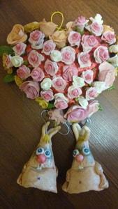 Сувенир авторский. Сердце из роз для влюбленных