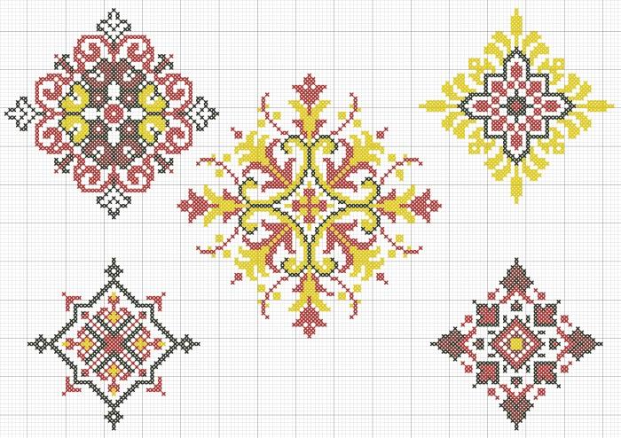 Народный орнамент на скатерть ''Ромбы''