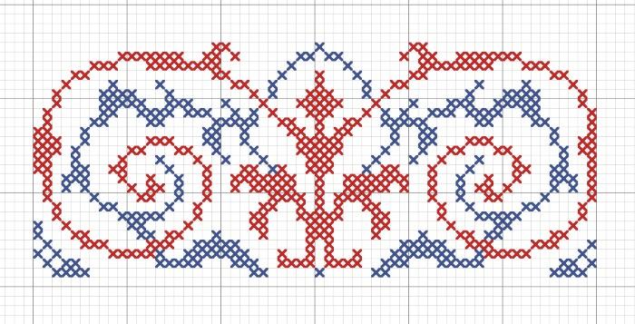 Народный орнамент на скатерть ''Вазон''