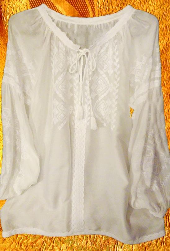 Вышивка белым по белому на маркизете ''Полтавочка'' (без пояса)