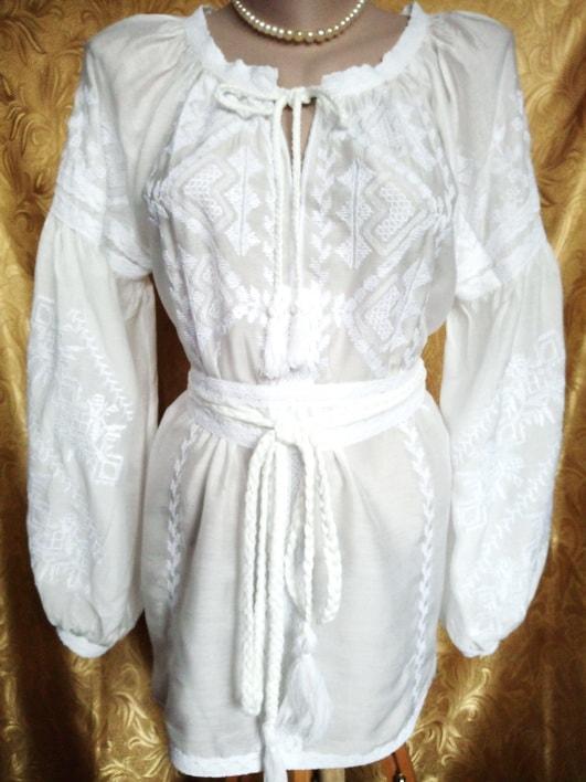 Вышивка белым по белому на маркизете