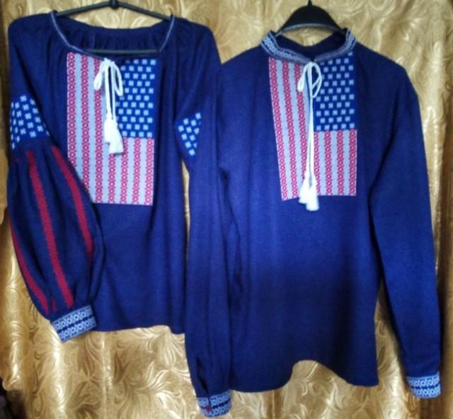 Мужская и женская сорочки на День Независимости США